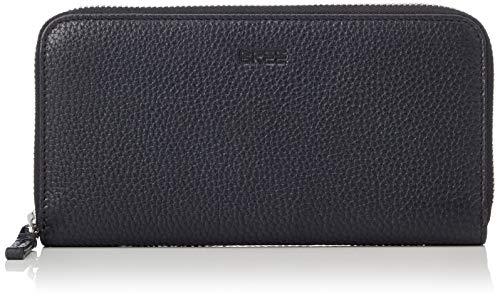 BREE Collection Damen Liv New 111, Black, Zipped Long Purse Geldbörse, Schwarz, 2x10x19.5 cm