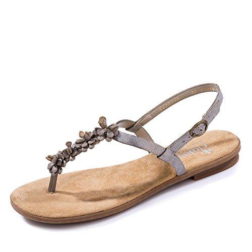 Rieker 64281 Sandales - Femme Gris