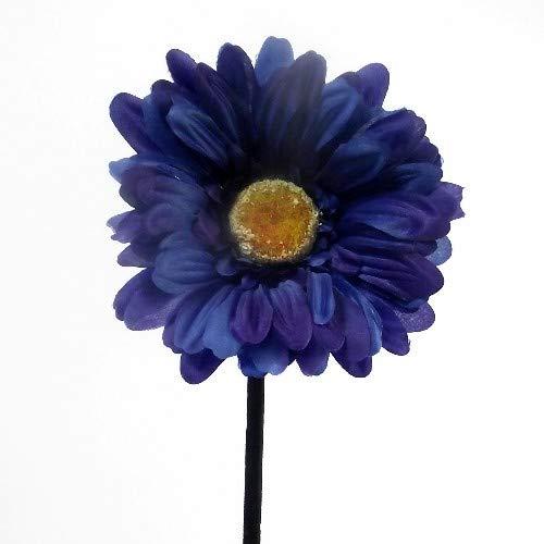 6x Kunstblume Gerbera Mit Großer Blüte Blau - Heim Garten