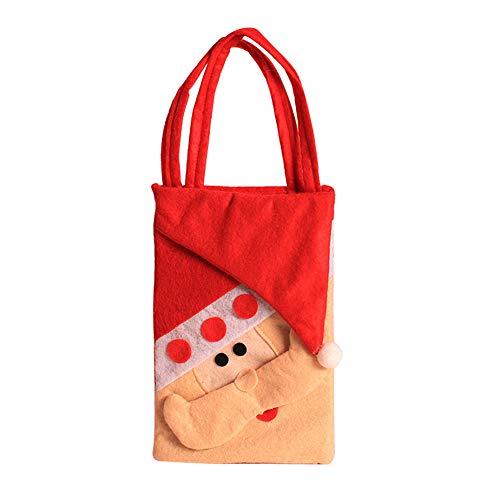 Bolsa de navidad de tela de Papá Noel
