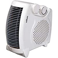 Netagon Small Quiet Portable Floor & Upright 2Kw 2000W Electric Fan Heater - WHITE