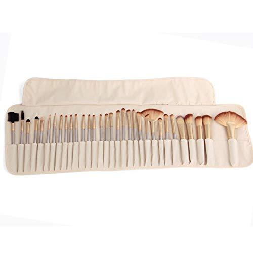 HPPL 32pcs Berufsverfassungspinselsatz bilden Puderpinsel pinceaux maquillage kosmetische Werkzeuginstallationssatzaugenschminkelippenpinselbeutel, Pinsel c, Porzellan (32pcs Make-up Pinsel Mit Tasche)