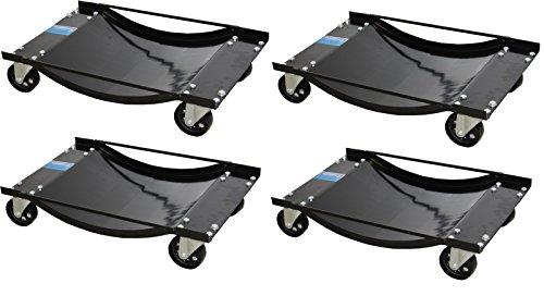 4x Auto Rangierhilfe für PKW 900 kg Rangierroller Rangierwagenheber Wagenheber