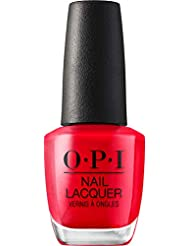 OPI Vernis à Ongles Nail Lacquer Nuances de Rouge Cajun Shrimp, 15 ml