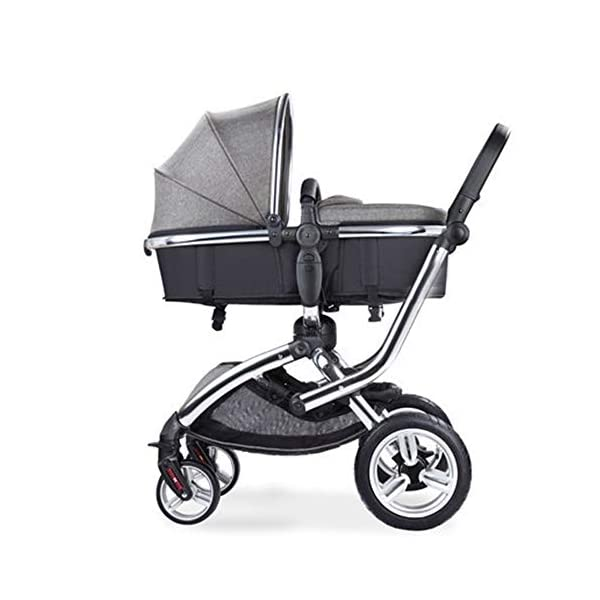 HJJGRASS Baby Stroller Lightweight Folding Pushchair Pram Buggy Stroller Buggy,Gray HJJGRASS The seat is 38cm wide and can be called a mobile crib. Easy folding - This pushchair is as simple to fold away as possible - with one hand only within a matter of seconds; this way it will fit any car boot and you will always have one free hand Long use - This stroller is usable for a long period of time; it is suitable from birth and Car load: greater than 15G 1