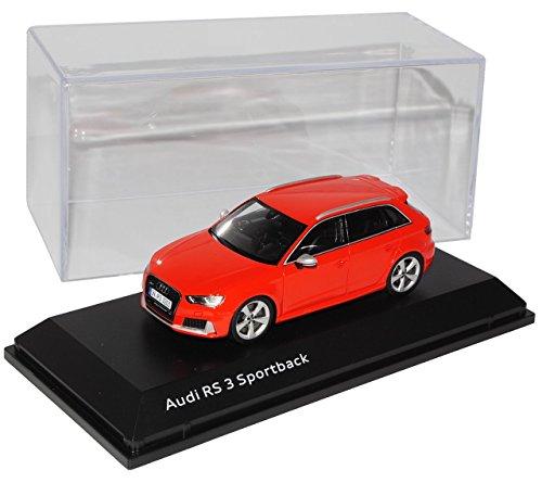 Preisvergleich Produktbild Audi A3 8V RS3 Sportback 5 Türer Catalunya Rot Ab 2015 1/43 Spark Modell Auto mit individiuellem Wunschkennzeichen