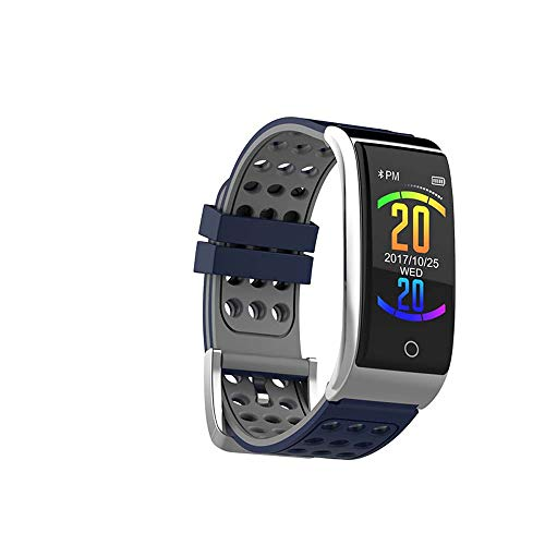KFX Fitness Tracker, Bluetooth Smart Watch, Mode Smart Armband E08 ECG + PPG-Farbbildschirm für Android Wasserdichte Kalorien verbrannte Kalorien Pedometer Pedometer Aktivität Schlaf