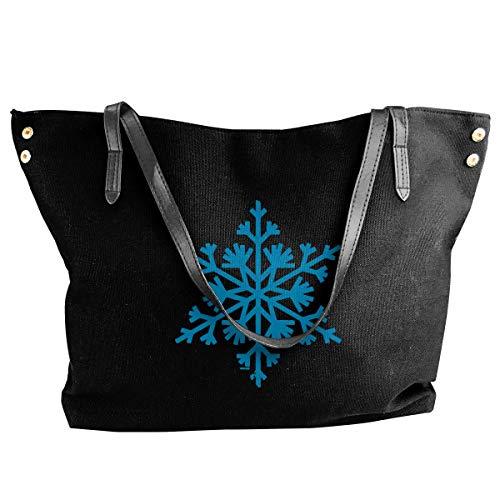 Camo Canvas Tote Bag (HRTSHRTE Women's Big Snowflakes Canvas Shoulder Bag Handbags Tote Bag Casual Work Bag)