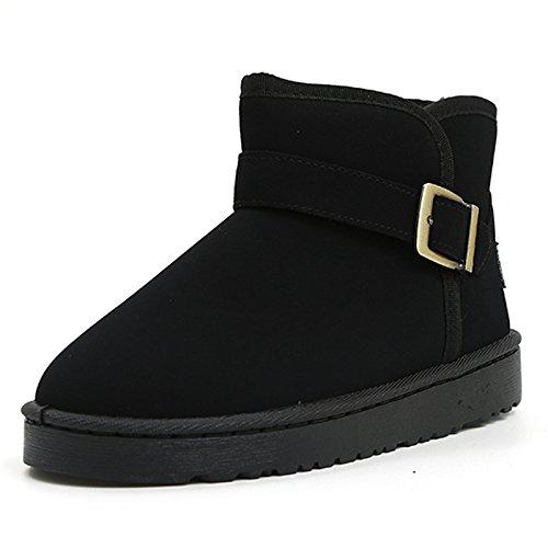 FLYRCX Moda europea in autunno e in inverno Snow Boots ladies tubo corto slittamento smerigliato impermeabile scarpe caldo A