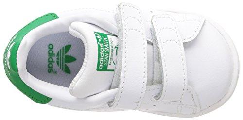 Adidas Stan Smith Cf I Scarpe per bambini, Unisex - bambino Bianco (Ftwwht/ftwwht/green)