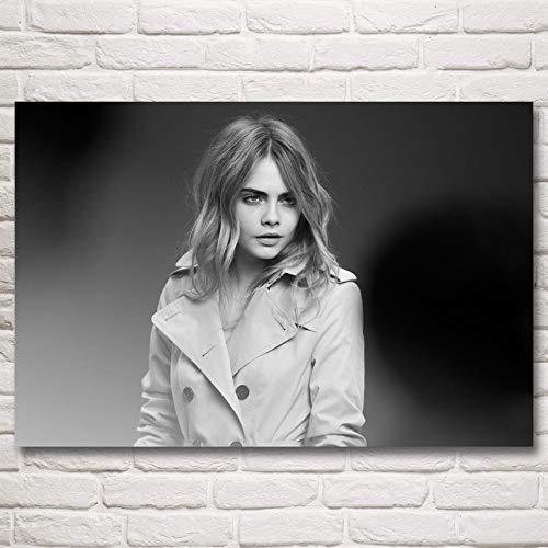 baodanla Kein Rahmen Cara Delevingne Frau Modell Kunst Seide Poste und Drucke ng Wohnkultur Wandbilder Für Wohnzimmer 60x90 cm