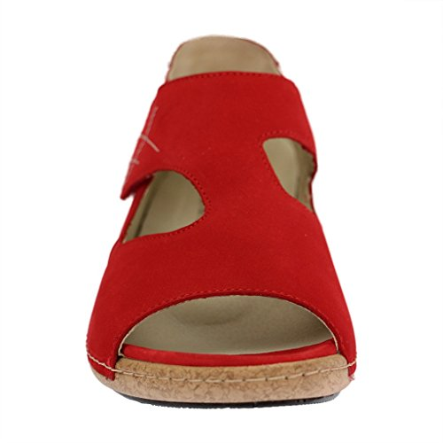 Waldläufer, Scarpe stringate donna Rosso