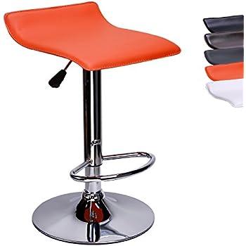 Cuisine De Dossier Tabouret Cclife Hauteur 58 Cuir CmCouleur Pivotante 12 78 Bar Chaise Sans En Synthétique orange Réglable Pnw0Ok