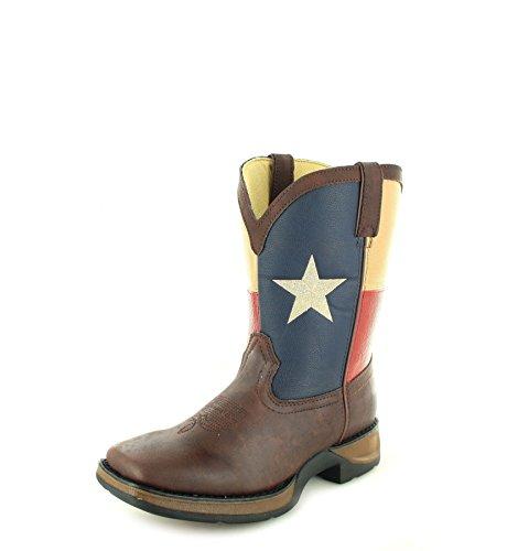 Cowboy Durango Mädchen Stiefel (Durango Boots Texas Flag BT246 Brown/Kinder Westernreitstiefel Braun/Cowboystiefel/Kids Boot, Groesse:25 (8.5 US))
