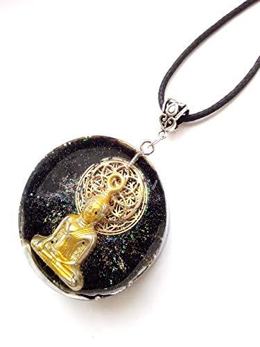 Pendentif en orgone Bouddha,Shungite,Mandala Siddharta