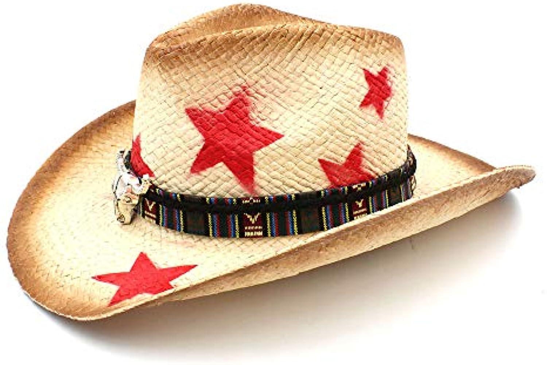 Fashion Cappello Exquisite charm Donna Uomo Cappello Fashion Western Cowboy  con Boemia Testa di Toro Nastro 74cdecd1f8f8