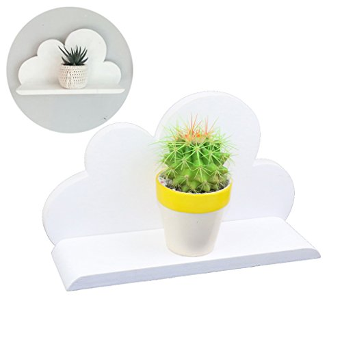 Lemo hecha mano -white plataforma nube madera decorativa