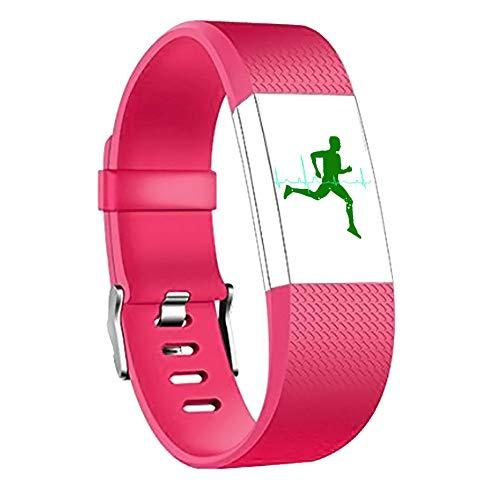 AchidistviQ-Silikon-Armband für Fitbit Charge 2, Rot L