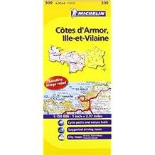 Michelin Map France: Ctes D'armor, Ille-et-vilaine 309 (Anglais) de Michelin Travel Publications (Créateur) ( 1 mars 2008 )