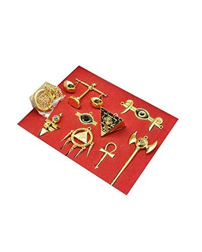 Karnestore Yu-Gi-Oh Millennium Artifact Skala Keychain Halskette Sammlung Sets Cosplay Zubehör (Yu Gi Oh Kostüm)