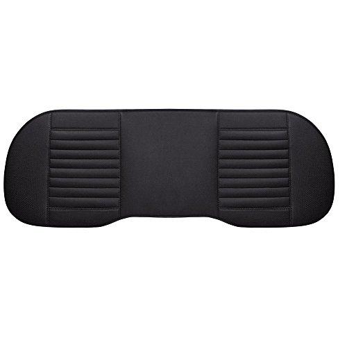 Preisvergleich Produktbild Universal Auto Innen Sitz Kissen PU Leder atmungsaktiv Pad Bambus anthrazit Matte für automatische Vordersitze Büro Stuhl von AOLVO–2+ 1vorne und hinten Sitzbezüge (schwarz) #B