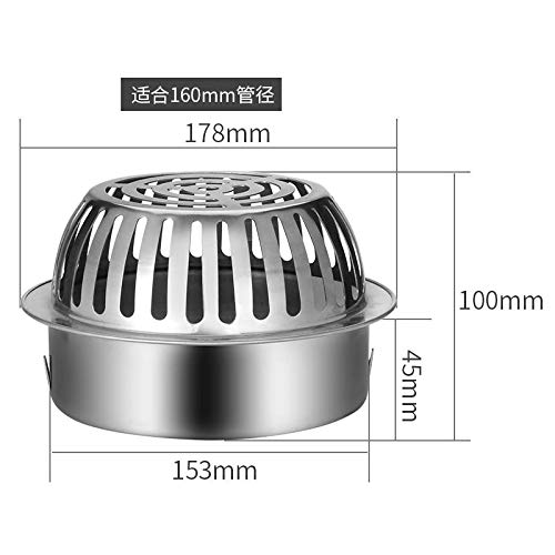 huafengsc Floor Drain Cover Stainless Steel Floor Drain Cover roof Anti-Blocking Drainage rain Bucket Flat Head Suitable for 110mm, 160mm -