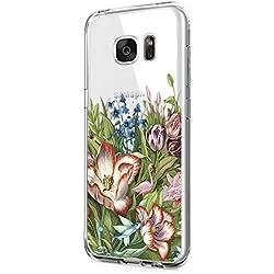 Beryerbi Weiche Hülle für Samsung galaxy S7 Transparente TPU Silikon Handyhülle für Damen/Mädchen Durchsichtig mit farbigen niedlichen Katzen Handyhülle Silikon Hülle (Samsung galaxy S7, Color-H)
