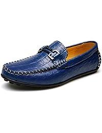Zapato de Cuero Flexible de la Ciudad en patrón del cocodrilo para los Hombres Zapato Que Camina Guisantes en el Ocio…