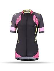 "dushow las mujeres de verano al aire libre transpirable manga corta ciclismo bicicleta bicicleta Jersey Tops, mujer, color negro, tamaño 2XL=Height(5'7""-5'11"") Weight(178-194 lb)"