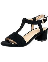 5afea43a Amazon.es: Sandalias Elegantes De Tacon - 4 - 7 cm / Zapatos para ...