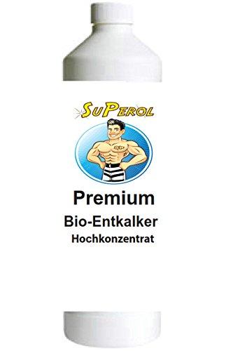 Superol - Premium Bio-Entkalker Hochkonzentrat für Kaffeevollautomat, Kaffee-Maschine, Pad-Maschine, Wasserkocher etc. | universell einsetzbarer Kalklöser für Bosch, Siemens, Tassimo, WMF, Delonghi uvm. | Hart zum Kalk und sanft zum Gerät ....es kann so einfach sein (5000 ml)