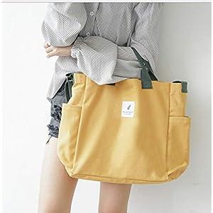 Nlyefa Canvas Damen Große Umhängetasche Einkaufstasche Henkeltasche Canvas Handtasche Shopper Tasche für Mädchen Schule Einkäufe