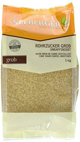 Seeberger Rohrzucker grob, unraffiniert, 1000 g Packung