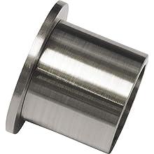 Gardinia Supporto da Parete per Ø 16 mm Acciaio Inox Confezione da 2 pz, Metallo Effetto, 2.5 cm, 2 unità