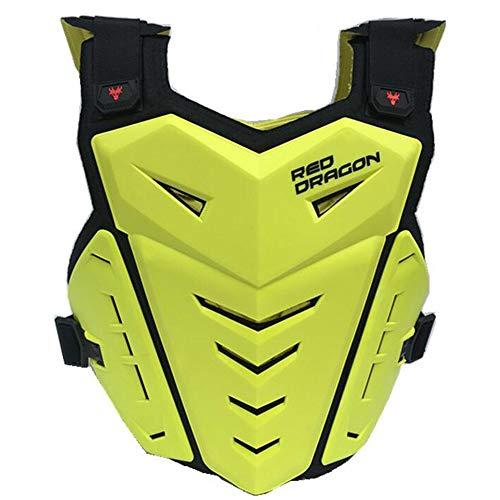 ALZHP Motocross Giacca, Moto Protezione, Spina Dorsale Protezione Professionale, per Motocross, Motociclismo, Mountain Bike, Skateboard E Snowboard,Yellow
