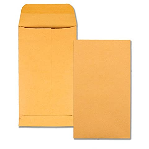 Kraft Coin & Small Parts Envelope, Side Seam, #5 1/2, Light Brown, 500/Box