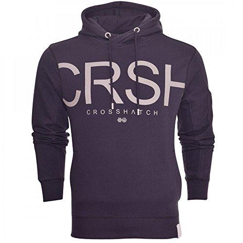 crosshatch-mens-designer-casual-hooded-logo-top-hoody-fleece-sweatshirt-jacket-medium-dark-blue