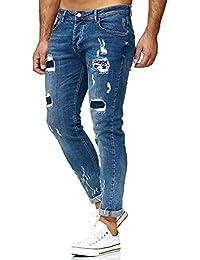 Redbridge Hommes Denim Jeans Regular Déchirés Occasionnels Stretch Mode  Pantalon cd002b23a7e3