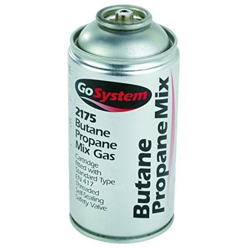 GoSystem Butane/Propane (70:30) Mix Gas Cartridge, Silver, 350 g