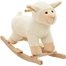 Schaukeltier Kuh Schaukelpferd Schaukel Tier mit Geräuschen Holzspielzeug