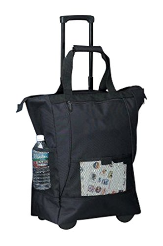 bellino-on-the-go-rolling-shopping-tote-black