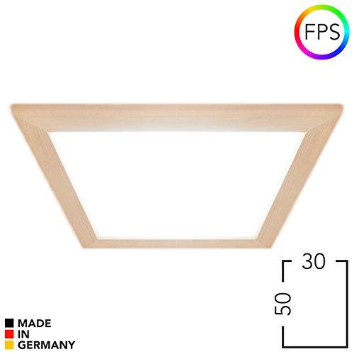 LED Farblicht Panel für Sauna FPS, Großflächig, angenehme & entspannte Lichtverteilung, bis 110°C, Privat & Gewerblich. Qualitätsstandard Made in Germany. (30 x 50 cm, Espe)