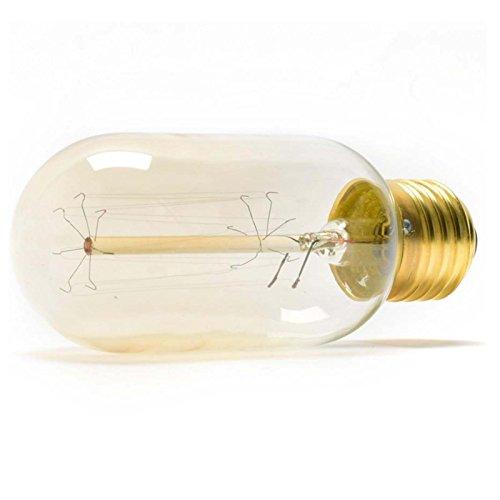 Dimmbar Vintage Eichhörnchen Käfig gerade Drähte Stil Wolfram Leuchtmittel, E27Edison-Glühbirne, 2700K, dekoratives Licht Leuchtmittel, 220-240V AC, Pack von 2Einheiten [Energie Klasse A +] -