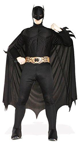 (Anzug Deluxe Batman für Karneval oder Halloween, Größe:L)