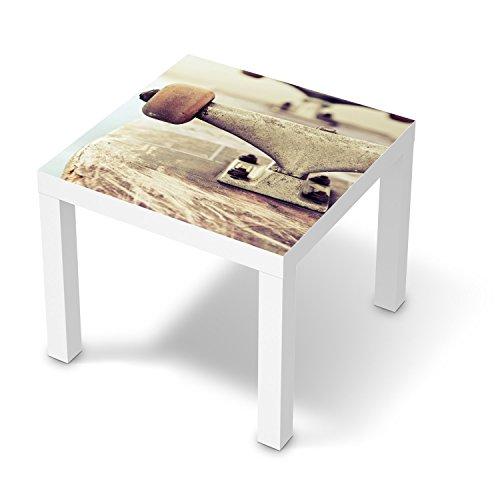 Dekoration für IKEA Lack Tisch 55x55 cm | Klebefolie Möbel-Aufkleber Folie Möbeltattoo | Zimmer gestalten Deko Artikel | Design Motiv Skateboard (Skateboard-zimmer Dekor)