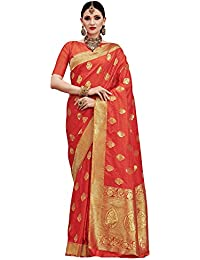 Saree Mall Women's Silk Saree With Blouse Piece (Kumd35008_Orange)