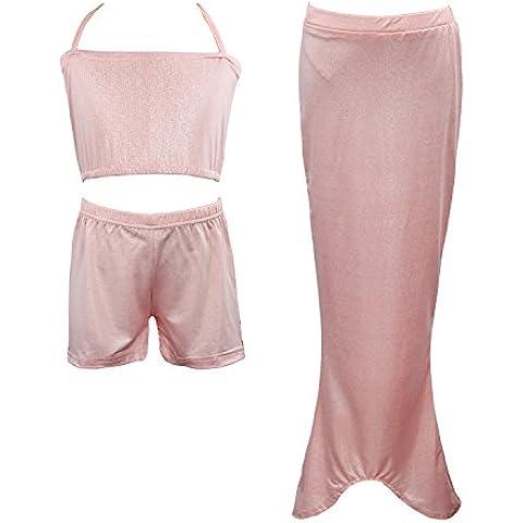 Per bambine balneabile sirena coda Sea-da dama Costume da bagno nuoto Fancy Costume
