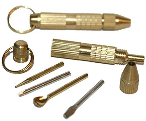 Generic O-1-o-4868-o Rewdriv avec kit de réparation de tabac à priser Micro Nuff SP Laiton Multi outil R Kit w Cuillère, Micro Tournevis, Pic YE Glas œil Verre NV _ 1001004868-nhuk17 _ 1706