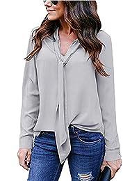 Bluse it T Amazon camicia donna Grigio camicie e elegante qanUzBw