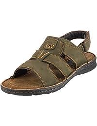 Mochi Men Tan Leather Sandals( 18-460 )
